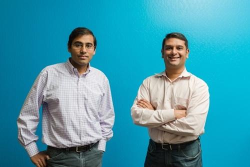 Raj De Datta (phải) cùng nhà đồng sáng lập BloomReach - Ashutosh Garg (trái). Ảnh: BloomReach
