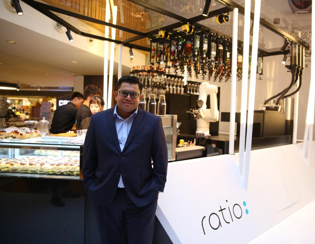 Gavin Pathross at his Ratio coffee shop / Photo credit: Ratio
