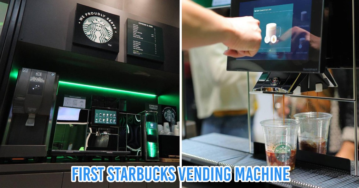 Starbucks' First Vending Machine