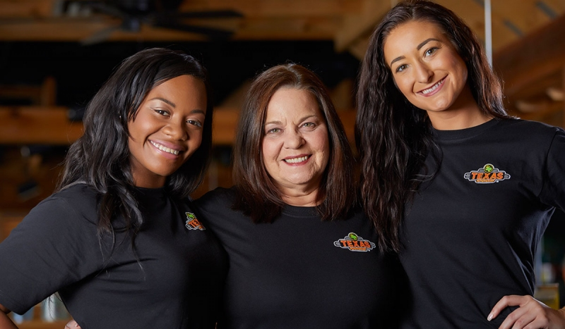 TEXAS ROADHOUSE Texas Roadhouse servers average three tables, rather than the industry average of five or six.